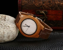Couples Wooden Watches Lovers Mens Womens Wooden Wristwatch Eco-friendly Unique Natural Leather Wood Watch Wedding Groomsmans Gift for him