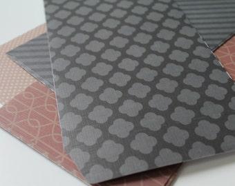 Handmade Textured Envelopes [Brown/Black Tones]
