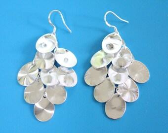 Grape Cluster Drop Earrings