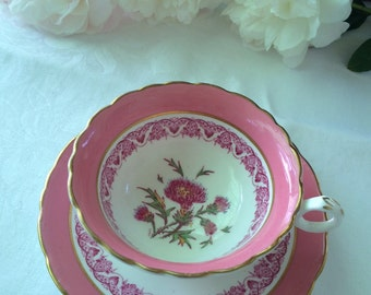 CAULDON 'Jesdon' Thistle tea cup and saucer