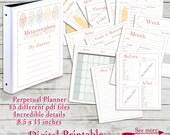 Weight Loss Planner, Diet Tracker Journal, Tribal Printable Planner, Weight Loss Journal, Fitness Planner, Digital Perpetual Calendar