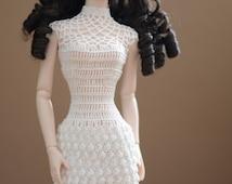 "Crocheted dress for 16"" dolls, Tonner, Sybarite, JamieShow"