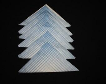 Plaid linen napkins