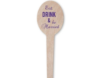 Eat Drink and Be Married Drink Stir Sticks