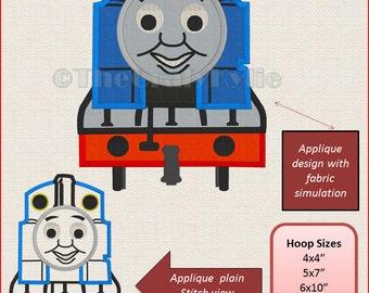 Thomas the train Machine Embroidery Applique Designs 4x4 5x7 6x10 hoop