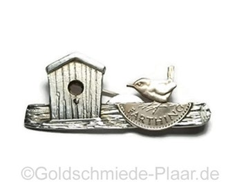 Brooch made of Silver 925 / - with quarter farthing