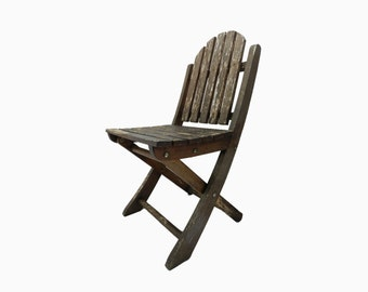 French Vintage Childs Folding Garden Chair