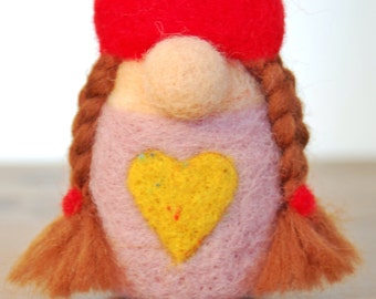 Needle Felted Forest Gnome (Female) - Item #1