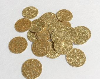 Gold Glitter Circle Confetti