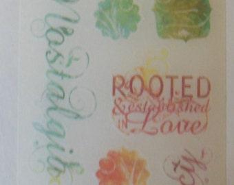 Miss Elizabeths Family Heritage Vellum Sticker Sheet Single Sided Acid Free Lignin Free