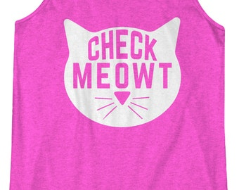 Check Meowt -  Fitness Workout Racerback Tank Leg Day Tanktop Gym