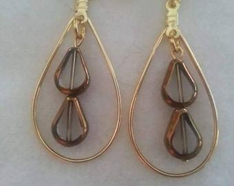 Double teardrops earrings
