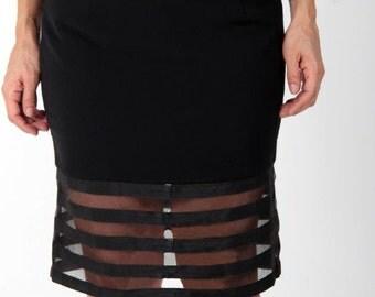 Sheer Pencil Skirt