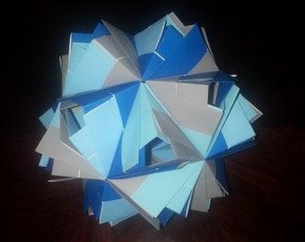 30-unit Modular Origami Polyhedra (Etna Kusadama )