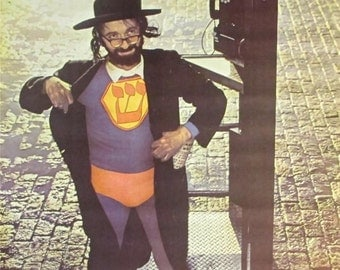 Vintage 1967~JEWISH SUPERMAN~To the rescueTelephone Booth Poster