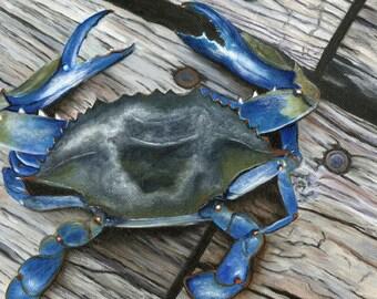 Ocean City, Eastern Shore Maryland, Destin Florida, Gulf Coast, Fairhope, Summer Blue Crab Oil Painting Print
