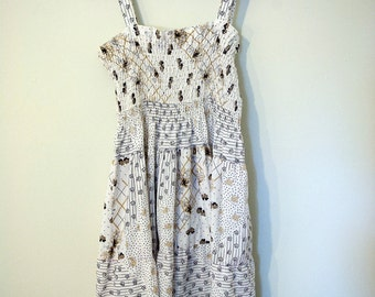 Vintage 70s Women's Prairie Sundress