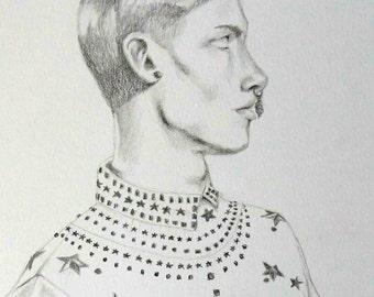 Original Givenchy Fashion Illustration