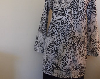 Animal Print Tunic Size 14/16