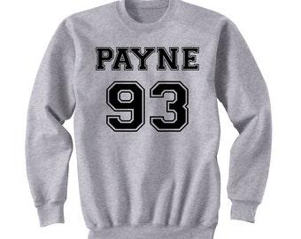Payne 93 Sweatshirt, Liam Payne One Direction Sweater, One Direction Sweat Shirt Band Shirt, Crew Neck Fangirl Shirt, Black Grey White