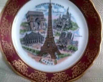 Vintage Souvenir Plate from Paris, France