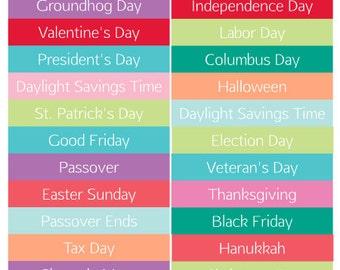 Holiday Planner Stickers 30 Count - Erin Condren, Kikki K, Filofax, Plum Paper