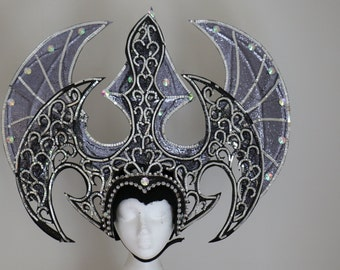 Black Tribal Rhinestone Costume Fantasy Halloween Headdress