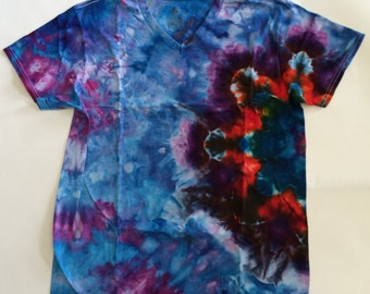 side star tie dye t-shirt
