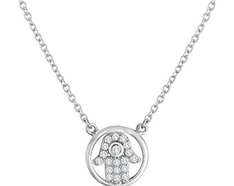Hamsa Pendant In Sterling Silver