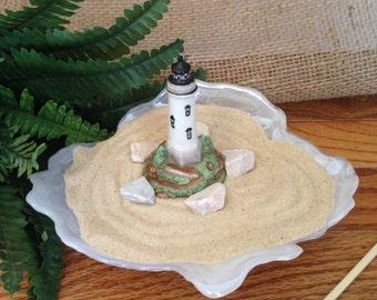 ZEN Miniature Garden SHELL LIGHTHOUSE