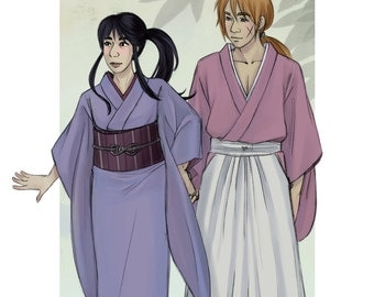 Kenshin + Kaoru - Art Print