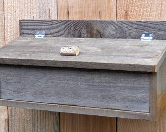 Rustic Weathered Wood Mailbox