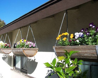 "8"" Weathered Cedar Hanging Planter"