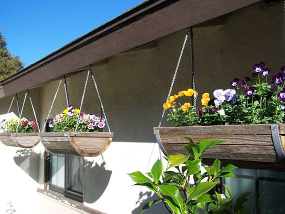 "8"" Weathered Cedar Hanging Planter"