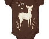 Deer Baby Clothes Deer Baby Shower Gift - Deer Baby Onesie Little Deer Gender Neutral Baby Clothes