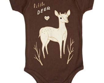 Deer Baby Clothes Deer Baby Shower Gift - Deer Baby Clothing Little Deer Gender Neutral Baby Clothes
