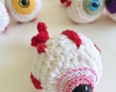 Keychain Accessories for Bags & Purses, Eyeball Amigurumi Plush, Backpack Ornament, Keychains and Lanyards - Pink Eye