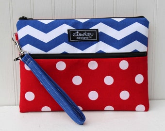 Ahoy! Kindle / iPad Mini /  Nook / eReader / Padded Pouch / Wristlet / Bag
