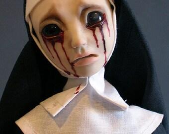 Bleeding Nun Doll