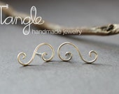 Sterling Silver Scroll Studs