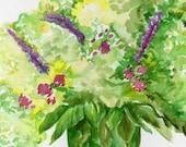 Hydrangeas Watercolors Paintings Original, floral watercolor art, original painting of hydrangeas, flowers, Hydrangea art, Hydrangeas decor