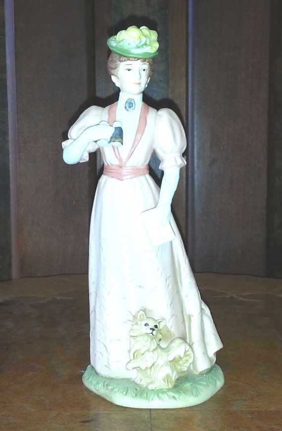 homco home interiors fancy lady figurine by collectingmemories