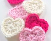 Crochet Heart PATTERN, Instant Download, PDF Crochet Pattern, Applique Pattern, Embellishment Pattern, Easy Crochet Pattern