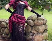 Splendor Victorian Steampunk Ball Gown Wedding Dress Made to Measure