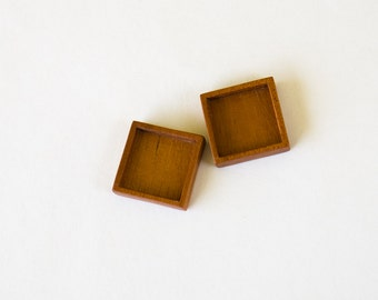 No laser fine finished hardwood bezel trays - Mahogany - 3/4 Inch - 19.5 mm - (F9-M) - Set of 2