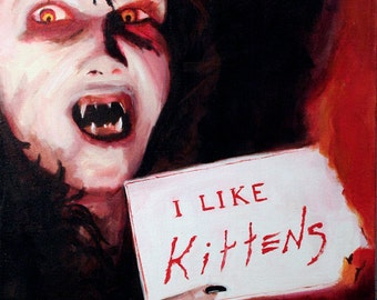 "Angela Loves Kittens and Sending People to Hell, Night of the Demons 5"" x 7"" Print"