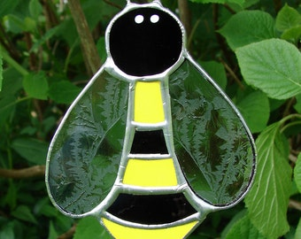 Stained Glass Bumble Bee Garden Stake