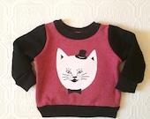 Restock kitty print childrens sweatshirt Supayana Ready to Ship
