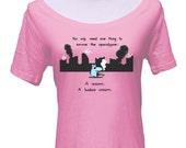 Apocalypse Unicorn Scoop Neck T-shirt - Cute Funny Unicorn TShirt