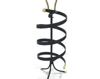 Black Metal Revolving Earring Rack